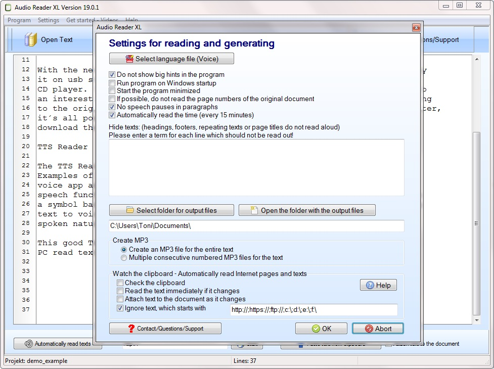 Text reader download