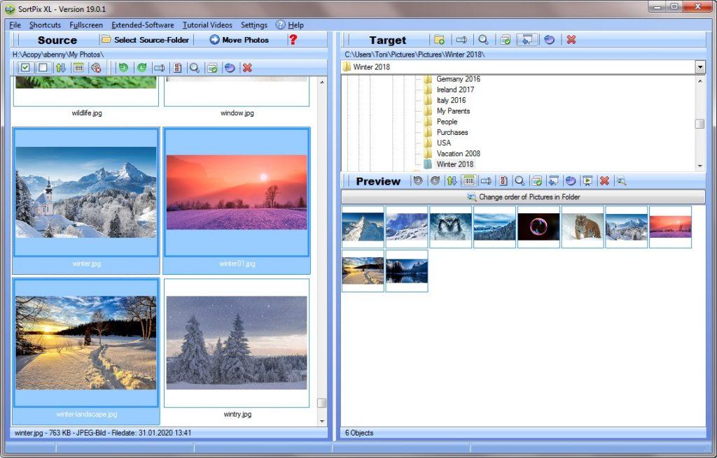 Photo organizing software
